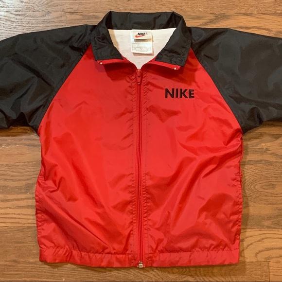 Nike Other - Vintage Nike 2T Windbreaker Jacket Red Black
